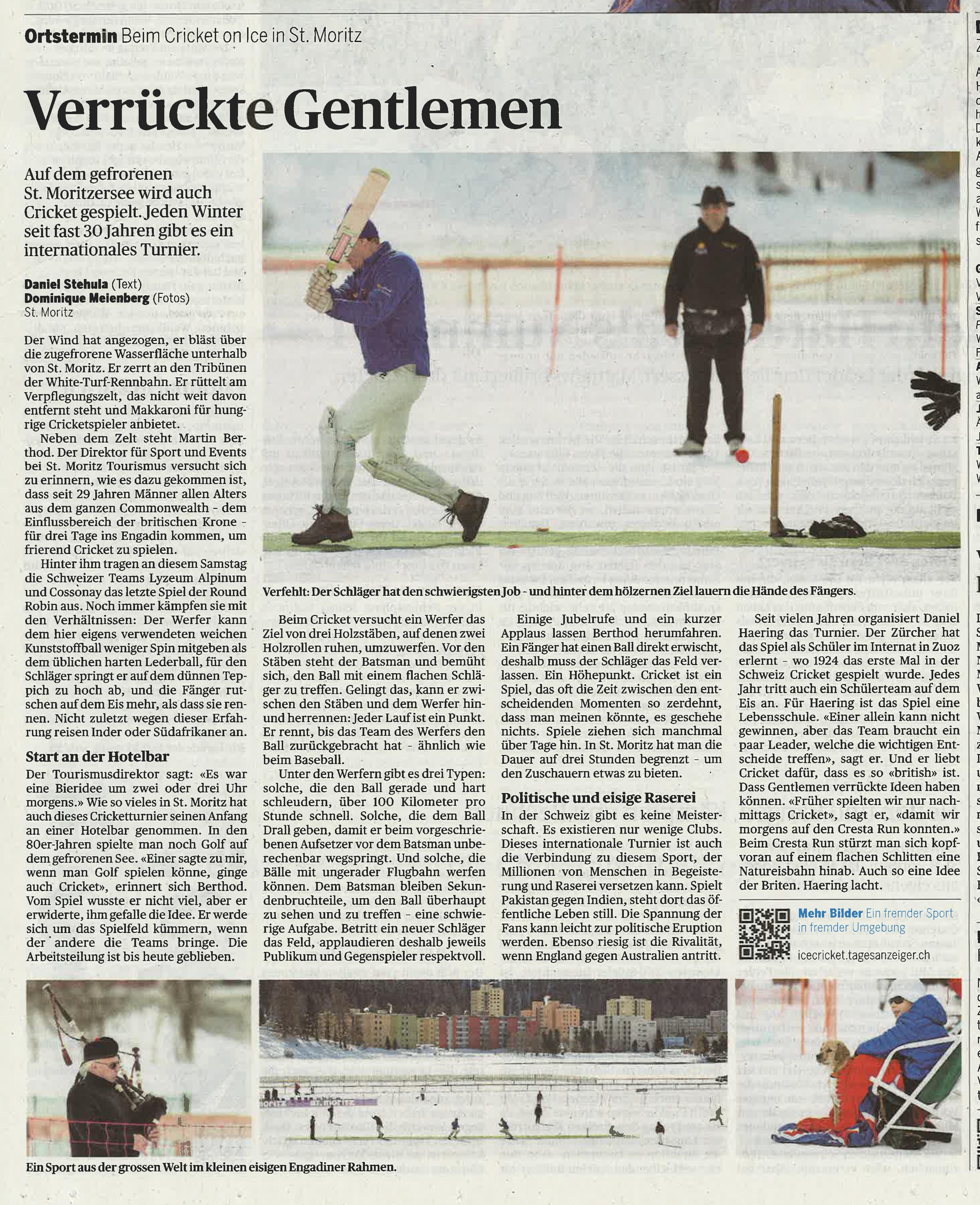 Media archives - Cricket on Ice / St. Moritz Switzerland